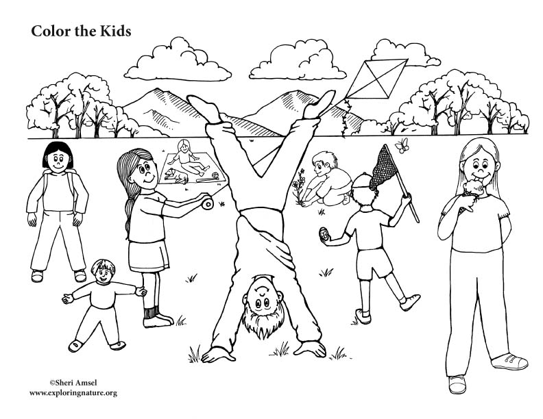 Kids Playing in the Park – Coloring Nature