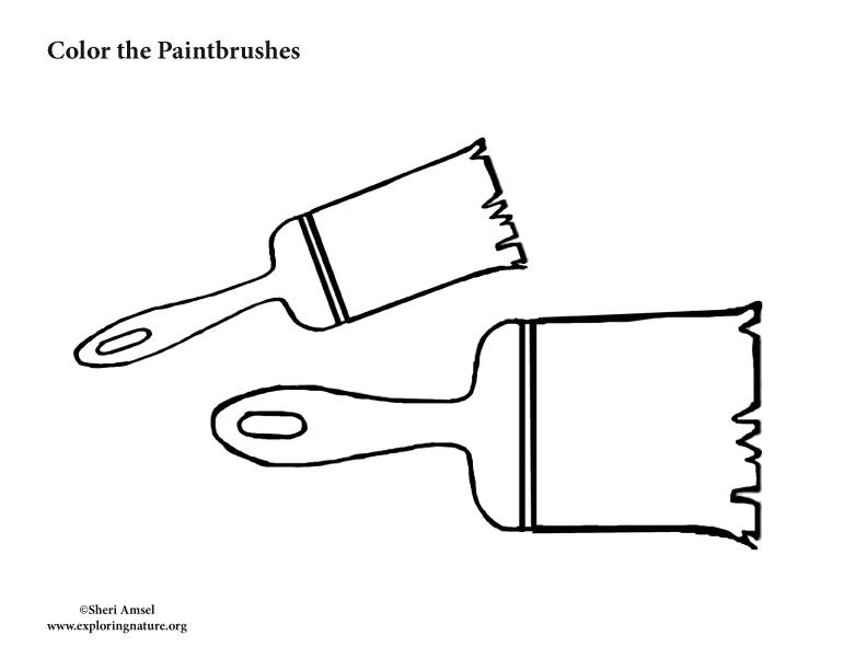 Paint Brushes Coloring Pages Learning To Draw and Coloring