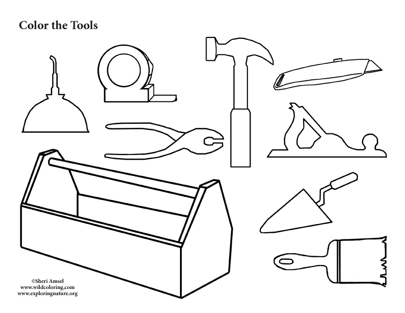 free tools coloring pages