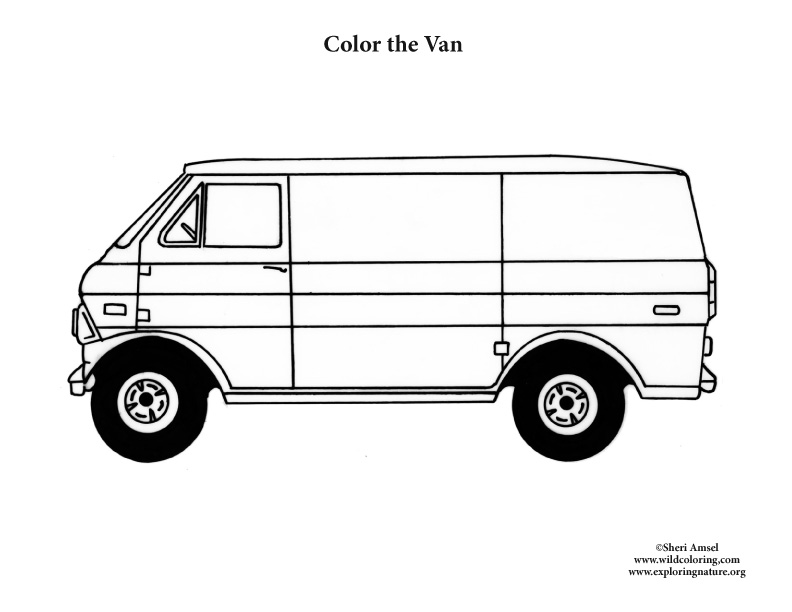 Van Coloring Nature